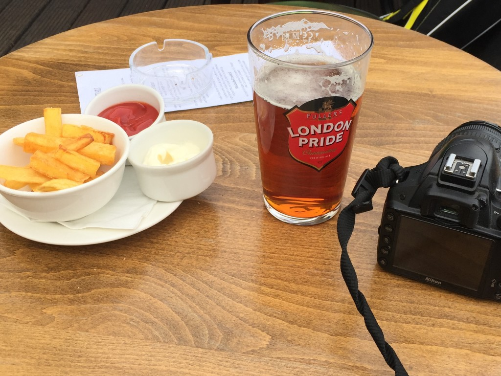A very decent pint and possibly the best chips in the world