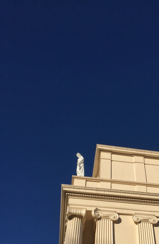 An Ancient Greek on the roof of Cumberland Avenue