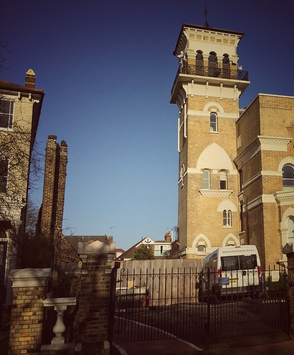 """The Italianate tower of no.74 and """"that"""" wall"""
